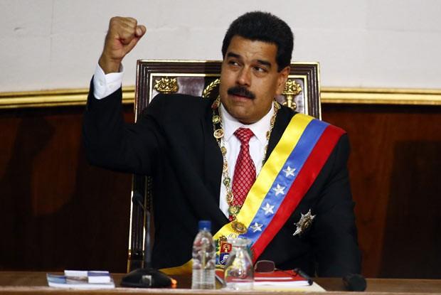 presidente da Venezuela, Nicolás Maduro, nesta terça-feira (8) na