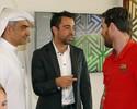 Xavi aproveita ida do Barça ao Catar e faz visita a ex-companheiros de clube