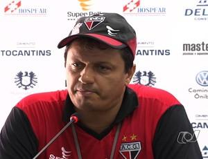 Adilson Batista, técnico do Atlético-GO (Foto: Reprodução/TV Anhanguera)