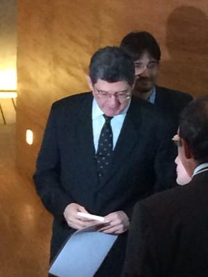 O ministro da Fazenda, Joaquim Levy, chega para evento no Rio (Foto: Cristiane Caoli/G1)