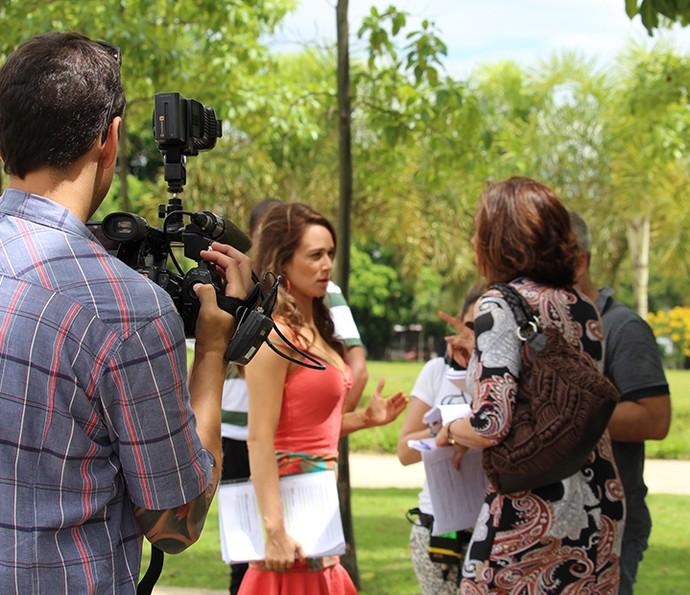 Gshow acompanha ensaio de gravação de Mariana Ximenes e Marisa Orth no Parque do Povo, em São Paulo (Foto: Ariane Ducati/Gshow)