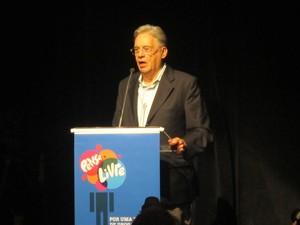 Fernando Henrique Cardoso no lançamento da Rede Pense Livre (Foto: Roney Domingos/G1)