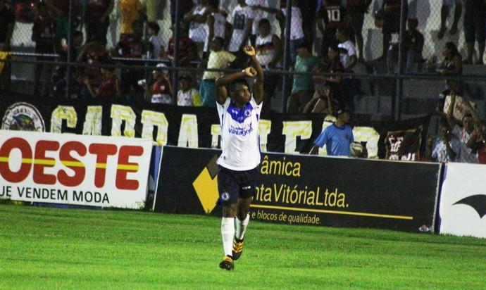 Gilmar Bahia, zagueiro do Parnahyba  (Foto: Renan Morais)