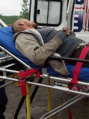 Momento em que Rafael Nunes chegou à clínica, no dia 20 de outubro (Foto: Divulgação)