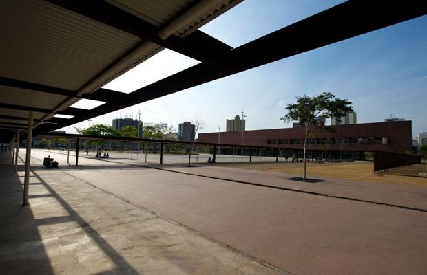 Biblioteca do Parque da Juventude foi construída, segundo Jacy, no lugar do Pavilhão 2, onde era feita a triagem dos presos do Carandiru (Foto: Flavio Moraes/G1)