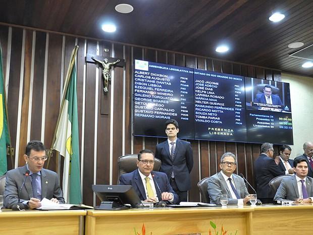 Solenidade de abertura da 3ª sessão da 61ª legislatura do RN (Foto: João Gilberto/Assembleia Legislativa do RN)