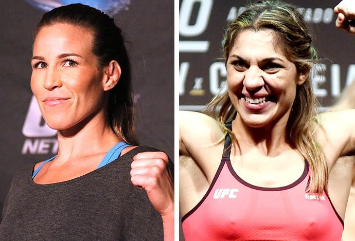 Montagem Leslie Smith e Bethe Correia UFC (Foto: Editoria de arte)