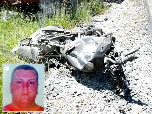 Piloto de motocicleta morre após batida com caminhão em Delfim Moreira (Foto: Luciano Lopes)