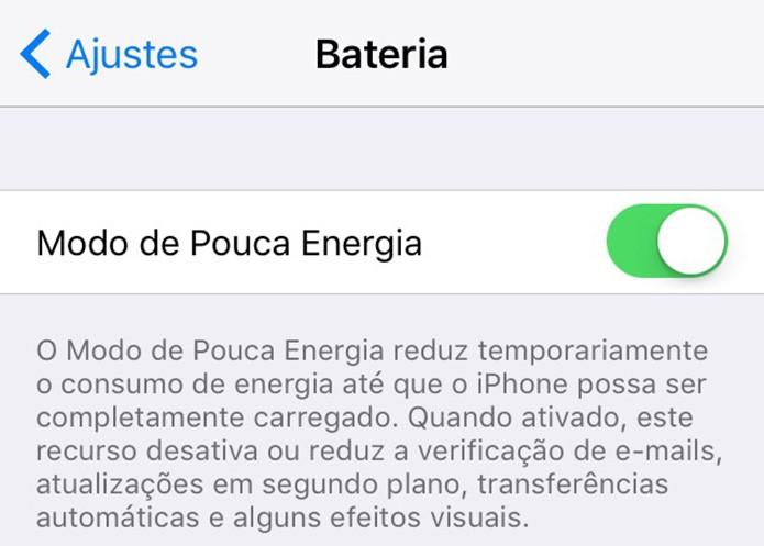 Ative o modo de pouca energia para poupar bateria (Foto: Reprodução/Paulo Alves)