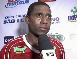 Diogo Oliveira, atacante do Imperatriz (MA) (Foto: Reprodução/TV Mirante)