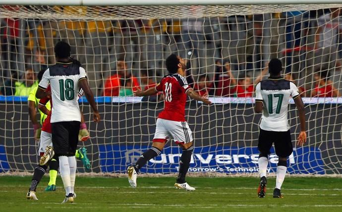 Mohamed Salah marca em vitória do Egito sobre Gana (Foto: Reuters)