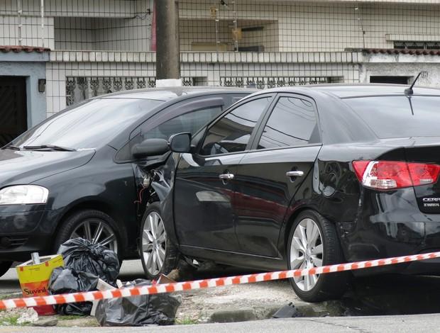 Renê Júnior acidente carro (Foto: Lincoln Chaves)