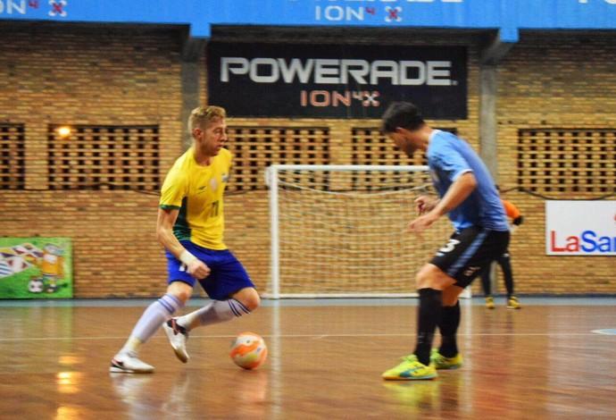 Bateria Brasil Uruguai Eliminatórias Mundial de Futsal (Foto: Luis Domingues/CBFS)