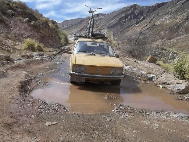 Um das estradas por onde o agente de viagens encontrou desafios para a passagem (Foto: Arquivo Pessoal)