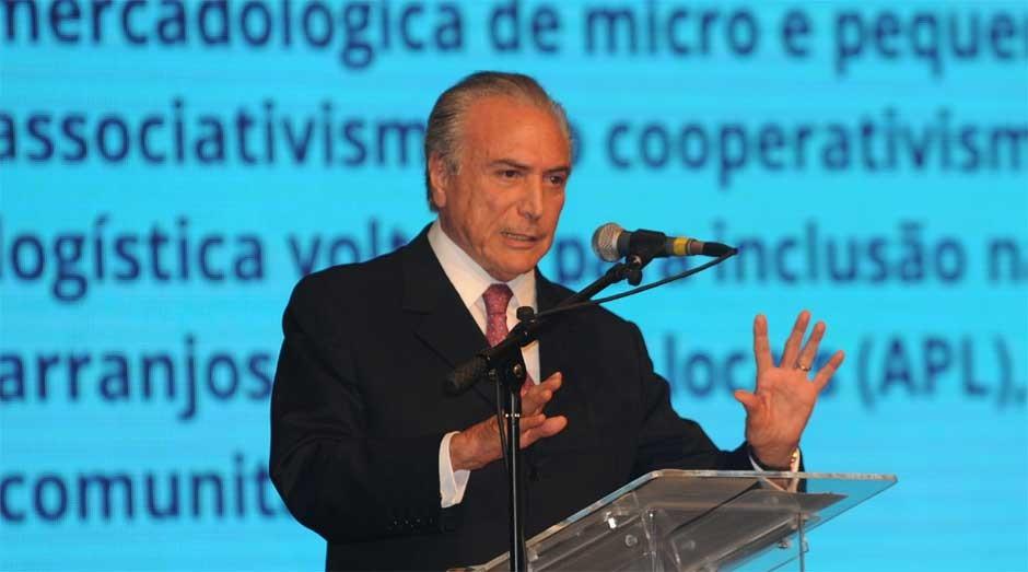 Michel Temer: presidente em exercício vai ajustar economia  (Foto: José Cruz/ABr)