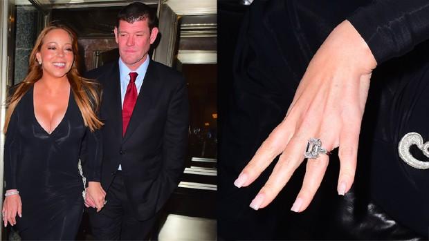 Noiva de bilionário, Mariah Carey exibe anel de diamante generoso