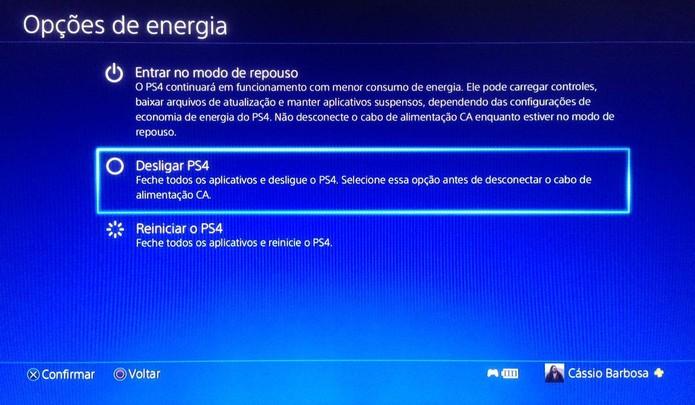 Procure desligar o PS4 também em vez de mantê-lo sempre em standby (Foto:Reprodução/Cássio Barbosa)