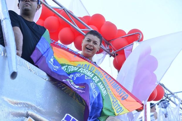David Brazil na Parada Gay (Foto: Andre Muzell / AgNews)