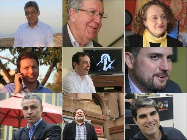 Candidatos à Prefeitura de Porto Alegre nas Eleições 2016 (Foto: Montagem sobre fotos/G1)