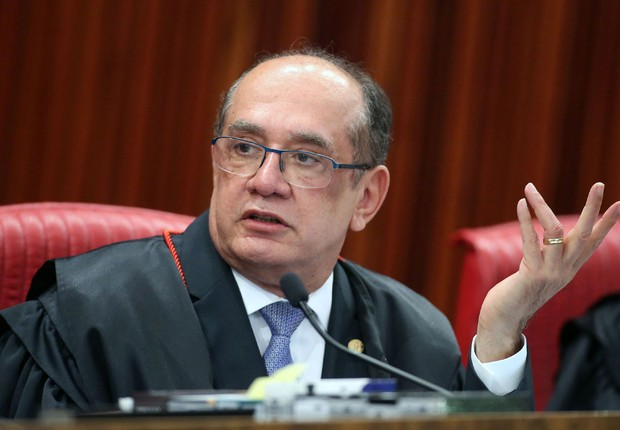 O presidente do Tribunal Superior Eleitoral (TSE), Gilmar Mendes, durante julgamento da chapa Dilma-Temer (Foto: Roberto Jayme/Ascom /TSE)