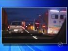 Acidente entre caminhões deixa trânsito lento em Bauru