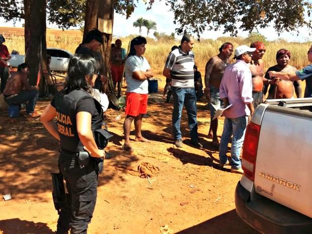 Índigenas tinham denunciado possível invasão ao novo ministro da Justiça, Alexandre de Moraes (Foto: Polícia Federal/ MT)