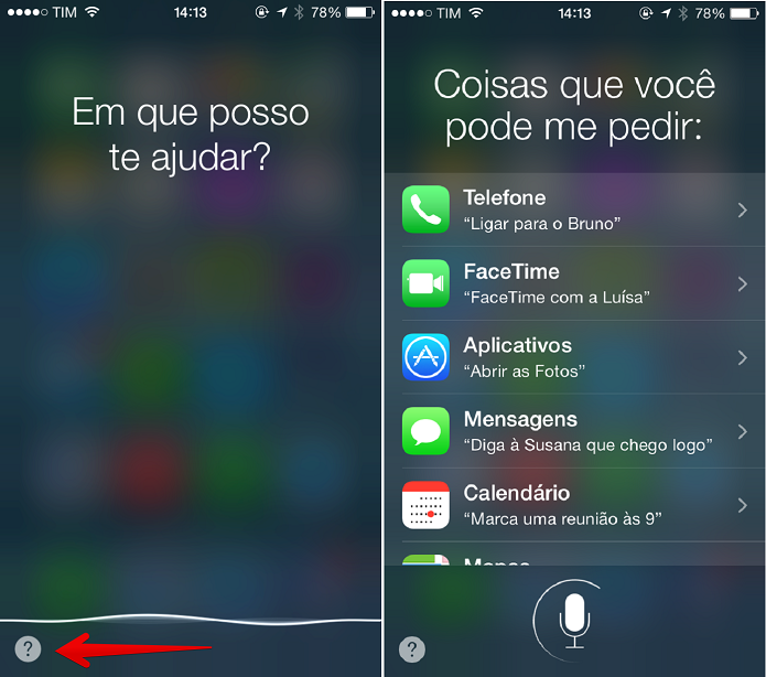 Todas as possibilidades com a Siri (Foto: Felipe Alencar/TechTudo)