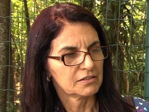 Edinair Maria dos Santos Moraes correu após bater ponto e não trabalhar na Alego, em Goiás (Foto: Reprodução/TV Anhanguera)