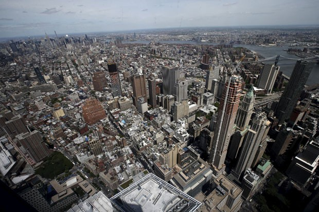 A vista do mirante do One World Trade Center (Foto: Mike Segar/Reuters)