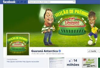 Página do Guaraná Antarctica do Facebook reúne mais de 14 milhões de fãs (Foto: Reprodução)
