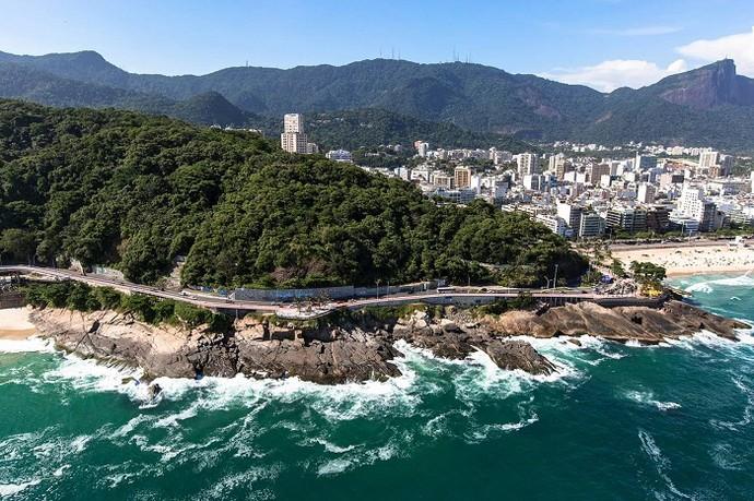 A nova ciclovia da Niemeyer também promete facilitar o acesso (Foto: Prefeitura do Rio)
