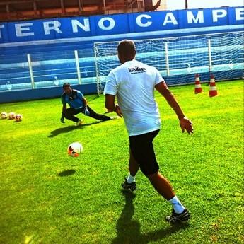 Goleiro Ivan realizou seu primeiro treino na Curuzu (Foto: Ascom Paysandu )