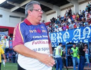 Ricardo Barreto, técnico do Bonsucesso, após acesso (Foto: Sandro Vox/FutRio.net)