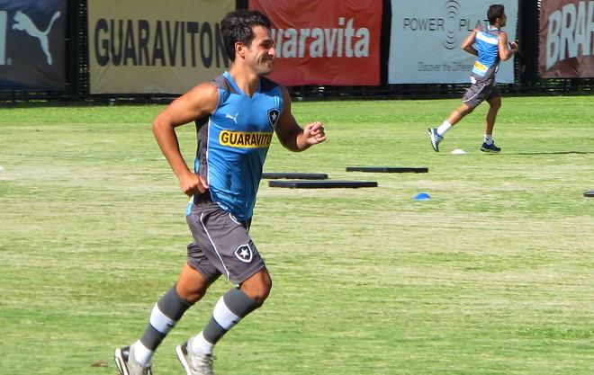 Lodeiro no treino do Botafogo (Foto: Gustavo Rotstein)