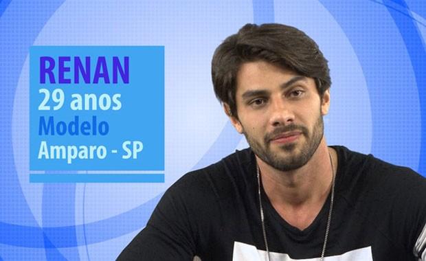 Renan é um dos novos participantes do BBB (Foto: Divulgação/Globo)