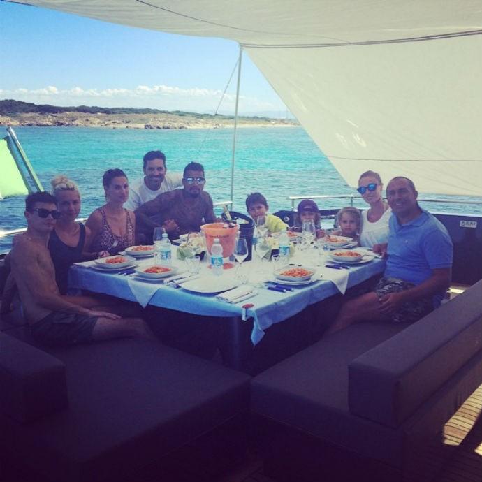 Prince Boateng e Melissa Satta curtem férias (Foto: Reprodução/Instagram)