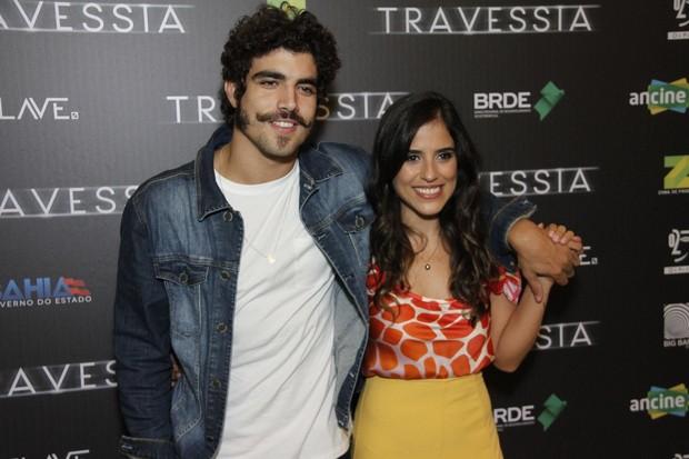Caio Castro e Camila Camargo - Pré estreia do filme Travessia (Foto: Marcos Ferreira / Brazil News / Divulgação )