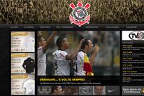 Visite página do Timão na internet. Clique (Reprodução / Site Oficial)