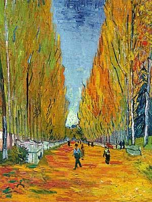 """A obra """"L'Allée des Alyscamps"""", de Vincent Van Gogh. (Foto: Reprodução / Sotheby's)"""