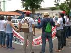 Profissionais da saúde protestam pelas condições de trabalho