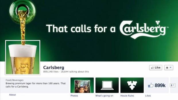 Facebook: Carlsberg (Foto: reprodução / internet)