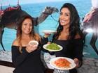 Amanda Djehdian e mãe, Regina Célia, ensinam receita árabe para o dia das mães