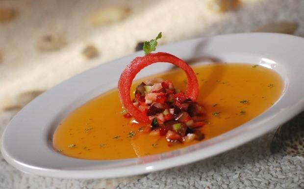 Salada de fruta com melancia - Wanderson Medeiros (Foto: Divulgao)