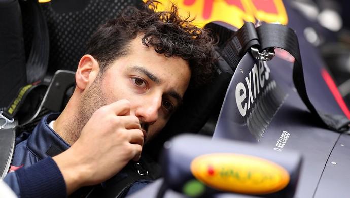 Daniel Ricciardo, da RBR, nos testes da F1 em Barcelona (Foto: Divulgação)