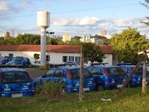 Base da Guarda Municipal de Campinas, no São Bernardo (Foto: Fernando Pacífico / G1 Campinas)