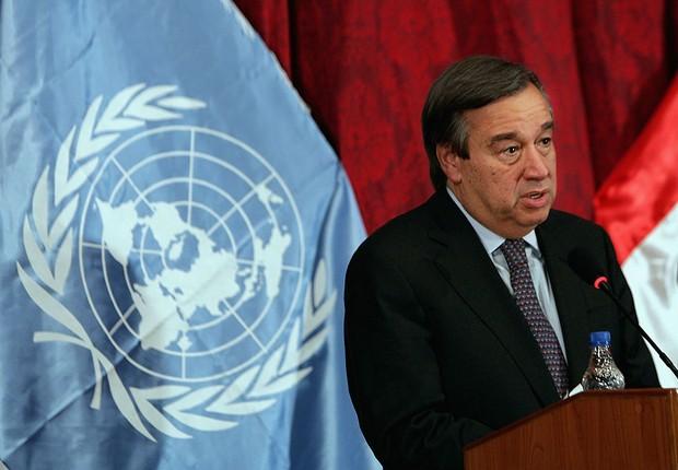António Guterres, ex-primeiro-ministro de Portugal e ex-chefe do Alto Comissariado das Nações Unidas para Refugiados (Acnur) (Foto: Wathiq Khuzaie/Getty Images)