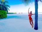 Gabriela Pugliesi curte viagem em resort de luxo nas Maldivas