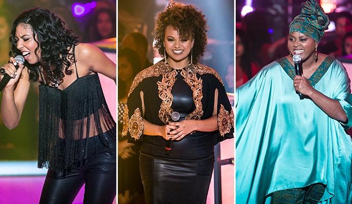 Trio feminino representa o time de Carlinhos Brown (Foto: Isabella Pinheiro / Gshow)