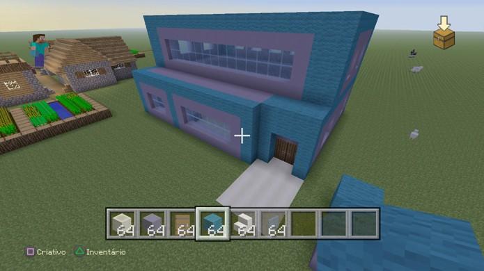 Um segundo andar pode dar mais espaço a sua casa de Minecraft sem perder o charme (Foto: Reprodução/Rafael Monteiro)