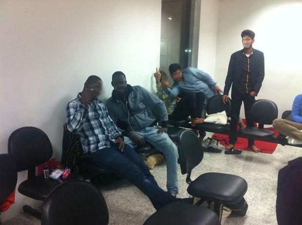 Camaronês disse ter dormido no chão por seis semanas (Foto: Arquivo pessoal)